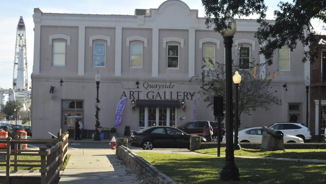 The Quayside Art Gallery in downtown Pensacola.