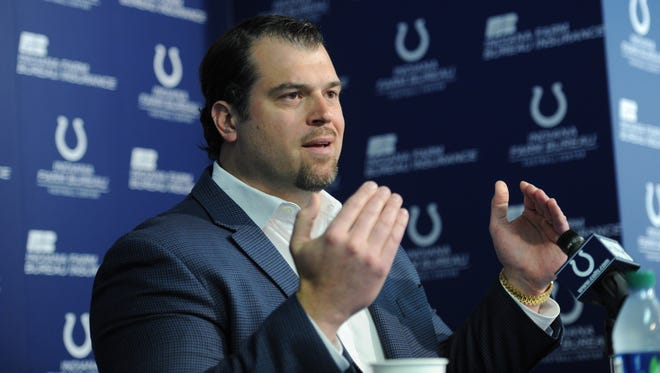 Indianapolis Colts GM talks about the Colts and the NFL  draft during a press conference Thursday afternoon at the Colts complex. The Colts currently have the 24th pick in the 2013 NFL draft which is Thursday, April 24th.