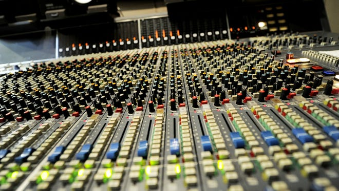 """A 24 track analog sound board sits in the """"Quonset Hut"""" recording studio at the Mike Curb College of Entertainment & Music Business at Belmont University Sept. 7, 2012."""