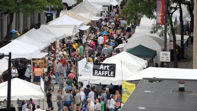 Artstreet often draws more than 75,000 people to downtown Green Bay.