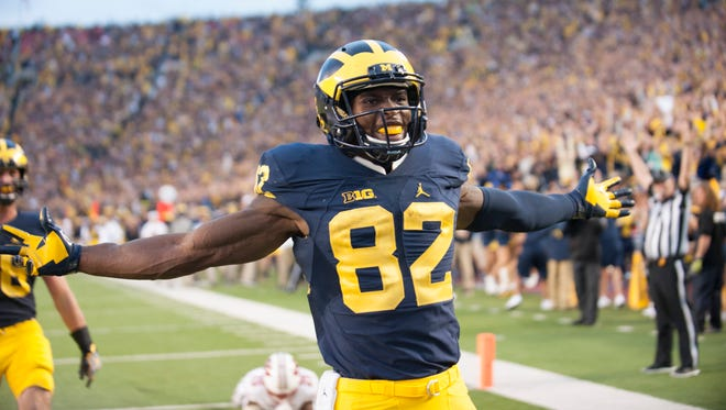 Michigan wide receiver Amara Darboh and the Wolverines are 6-0, ranked No. 3 in the polls and a heavy favorite to beat rival Michigan State on Oct. 29.