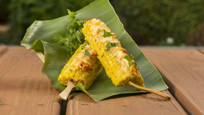 Grilled corn-on-the-cob will be served in the Mexican Market at SeaWorld Orlando's Seaven Seas Food Festival.