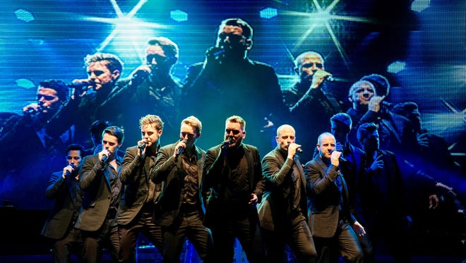 The Ten Tenors perform at Red Bank's Count Basie Theatre on Thursday night.