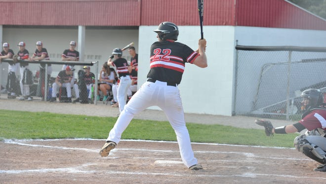 Gavin Lewis was one of the most dominant pitchers in the county this season leading the area in strikeouts with 96, while also co-leading the home run race with four.