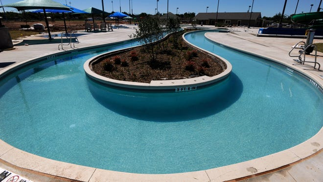 The bend of the lazy river feature at Adventure Cove Wednesday May 24, 2017. Abilene's first water park is slated to open in mid-June, completion of the project having been delayed by weather this spring.