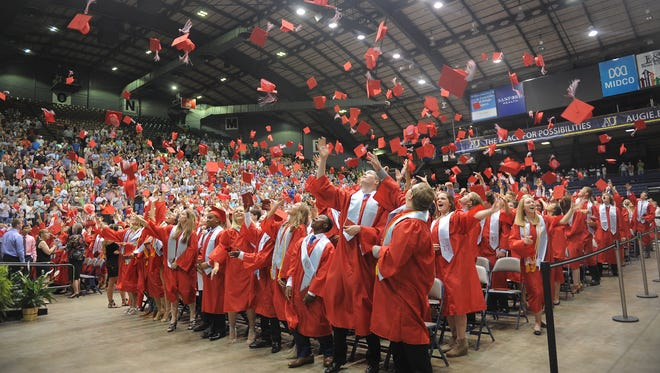 Lincoln High School graduation ceremony on Sunday, June 4, 2017 at the Sioux Falls Arena.