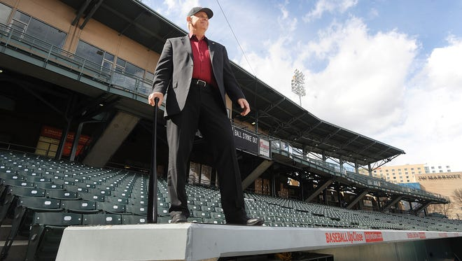 Cal Burleson, the senior vice president of community affairs for the Indianapolis Indians, is shown at Victory Field in a 2011 file photo.