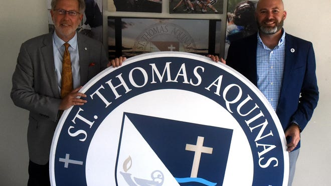 St. Thomas Aquinas has two new leaders this year being Dan S. Soller, president, left, and Paul Marquis, principal.