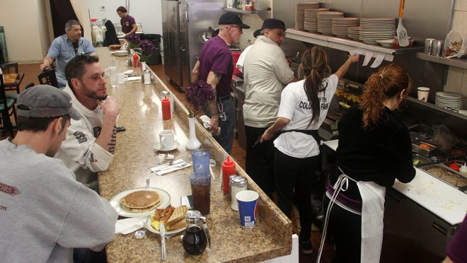 The Colonial Coffee Shoppe was buzzing with activity Monday in Howell.
