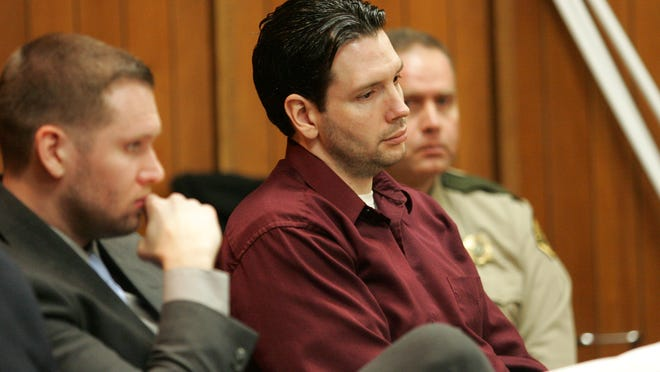 Defendant Casey Frederiksen listens to testimony during his trial on Thursday in Hamilton County District Court. Frederiksen is accused of sexually abusing and killing Evelyn Miller, his former girlfriend's 5-year-old daughter.