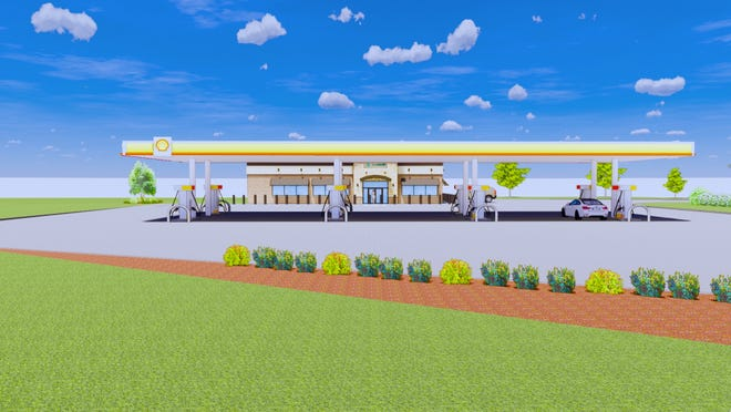 A rendering of the proposed gas station and convenience store for the corner of U.S.-31 and Lincoln Avenue. The rezoning and site plan approval request was unanimously approved by the Holland Planning Commission Tuesday, Sept. 8.