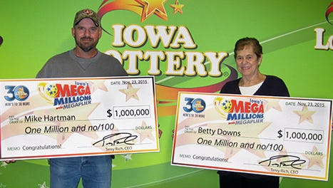 Mike Hartman and Betty Downs each won $1 million prizes in November 2015.