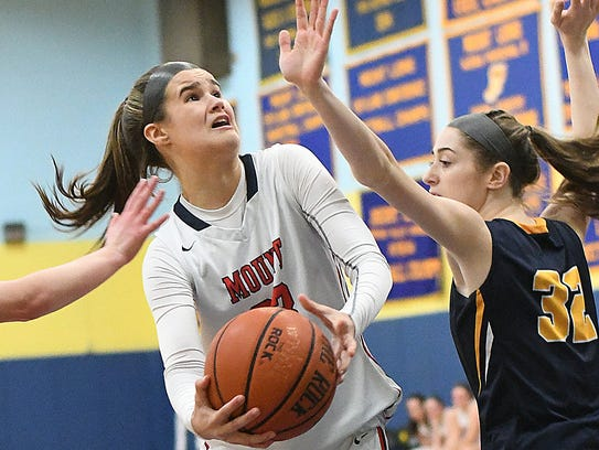 Delaware Valley at Mount St. Mary basketball, Thursday,