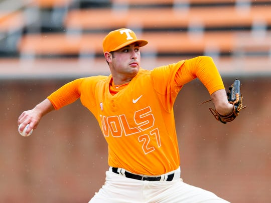 Tennessee's Garrett Stallings was draft in the fifth round by the Los Angeles Angels.