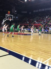 Action from Saturday's Section 4 Class B basketball