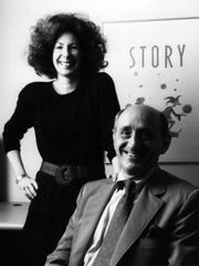 The late Lois Rosenthal, editor of Story magazine, and Richard Rosenthal, president of F&W Publications. They sold the Blue Ash-based business in 1999.
