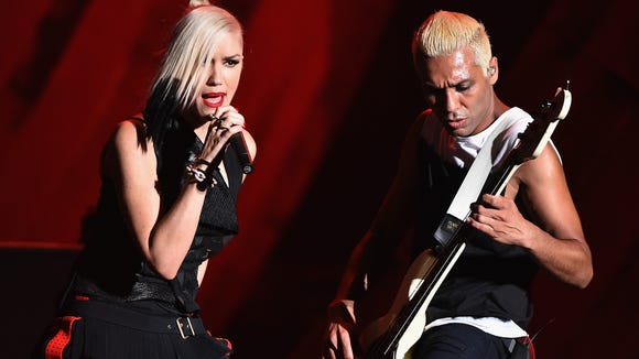 No Doubt performs at the 2014 Global Citizen Festival in Central Park on September 27, 2014 in New York City.