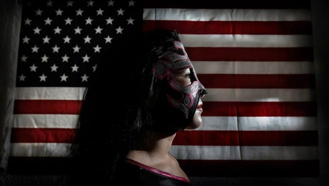 El Paso Lucha Libre star Delilah brings her high-flying talent into the ring in Northeast El Paso, usually battling men. The New Era Wrestler is building a strong fan base in the sport. See video and more photos at elpasotimes.com.