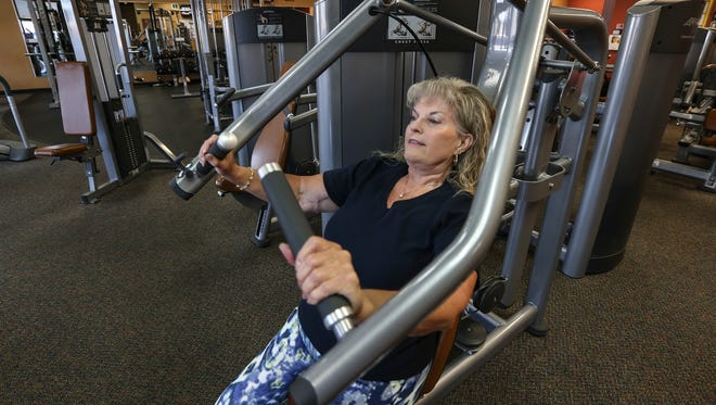 Renae Gilley works out at Anytime Fitness in Mt. Washington where you can find her almost every day.  Gilley weighed 225 lbs and was pre-diabetic before she began a program that worked with her diet and exercise.  She's now a size 10 and is keeping diabetes at bay.October 4, 2016