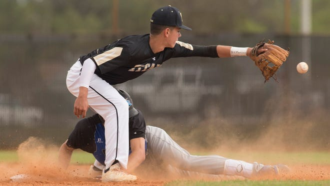 Treasure Coast battled Sebastian River Friday, March 24, 2017 during their high school baseball game at Treasure Coast High School in Port St. Lucie.