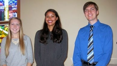 Emily Lear,  left, Mbokanamou Yvie Molingou and Dylan Baley are among five winners of the Chemung Chapter Daughters of the American Revolution Good Citizens Award.