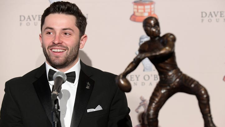 Baker Mayfield downplays comparisons to Johnny Manziel: 'Just wired differently'