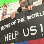 The group SOS Venezuela rallied together in downtown Knoxville to call for peace and change in the South American country.