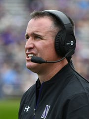 Northwestern head coach Pat Fitzgerald usually plays