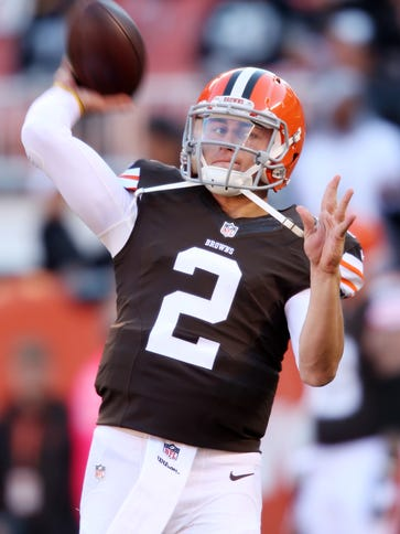 Cleveland's Johnny Manziel is  the only quarterback