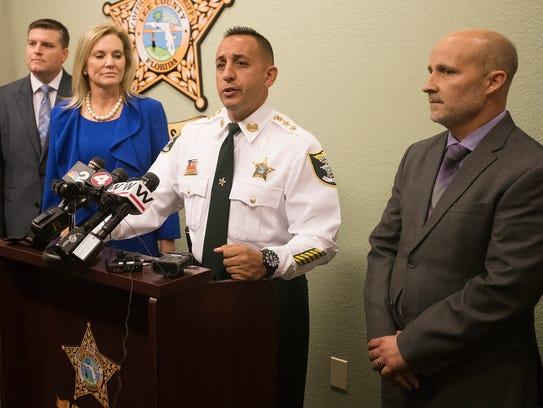 Lee County Undersheriff Carmine Marceno announces on