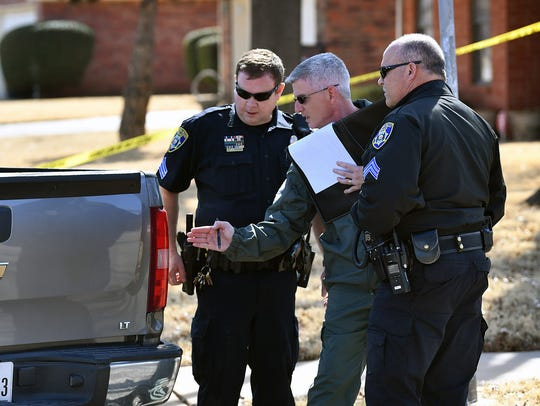 Wichita Falls Police accident investigators inspect