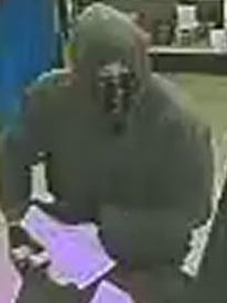 A screen shot from surveillance footage of the Felton Uncle Willies robbery suspect.