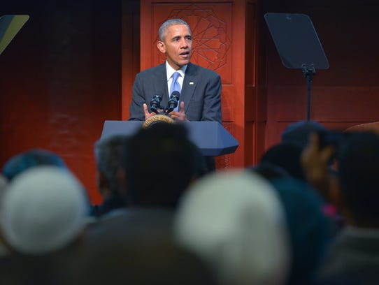 President Obama speaks at the Islamic Society of Baltimore