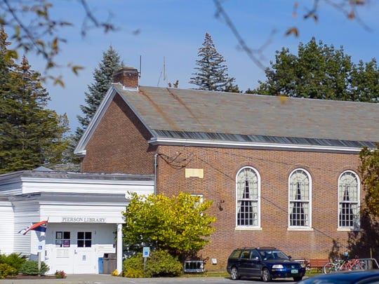 The Pierson Library in Shelburne is seen on Tuesday, September 26, 2017. The library is attached to the former town hall.  A bond to improve and expand the buildings will be going before town voters.