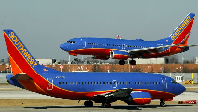 Southwest planes at Chicago's Midway Airport.