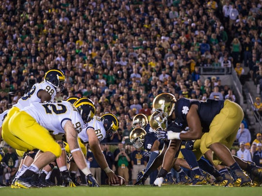 The Michigan Wolverines and the Notre Dame Fighting
