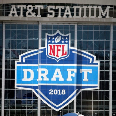 A view of AT&T Stadium prior to the NFL Draft in Arlington,