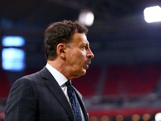 St. Louis Rams owner Stan Kroenke on the sidelines