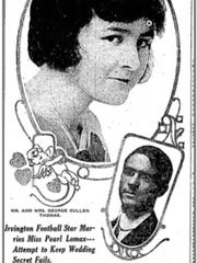 An image of Cullen Thomas (and his fiancee) from the July 28, 1915 Indianapolis Star.