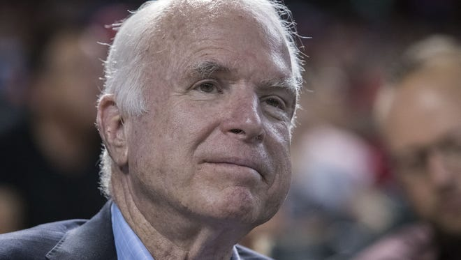 """In his forthcoming memoir, Sen. John McCain, R-Ariz., laments a """"decline in civility"""" and an """"all-consuming partisanship"""" that has divided Americans."""