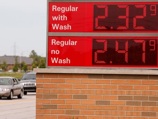 Gasoline prices as displayed at the Circle K Friday,