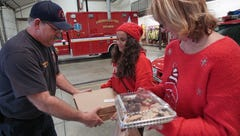 Christmas pizza delivered to first responders