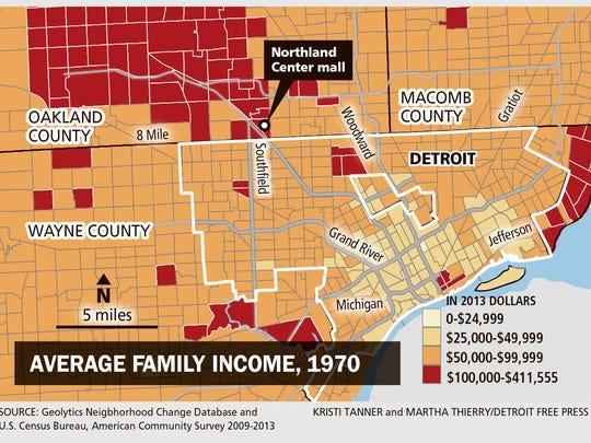 Average family income, 1970