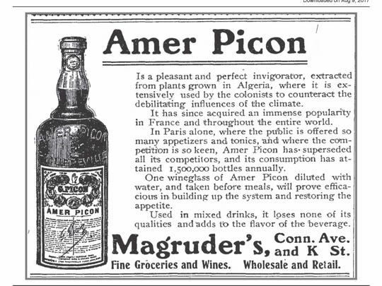 An Amer Picon advertisment in the Washington Post in 1906.