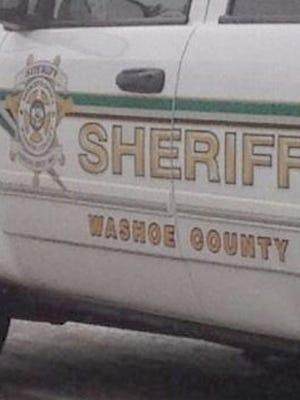 Washoe County Sheriff's vehicle.