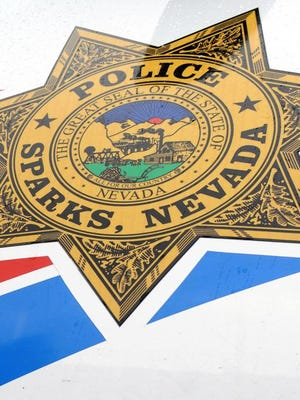 A file photo of the Sparks Police Department logo.