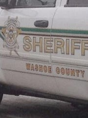 A photo of a Washoe County Sheriff's Office vehicle. The sheriff's department lost a second boat to Lake Tahoe Thursday.