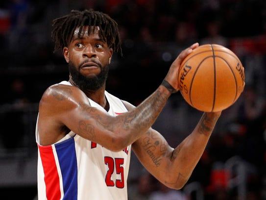Feb 28, 2018; Detroit, MI, USA; Pistons forward Reggie