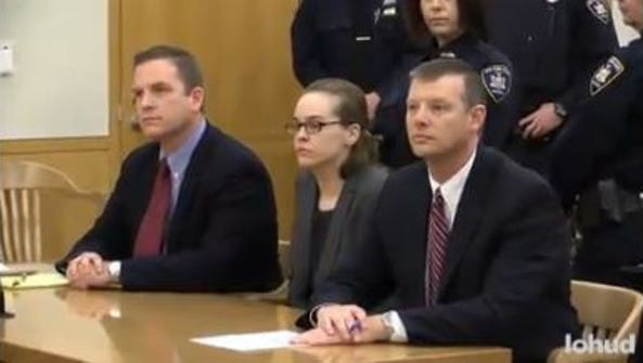 Lacey Spears listens as the jury foreman reads her