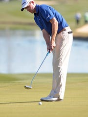 Brendon Todd putts on the 10th hole of the Palmer Course at PGA West during the Humana Challenge on Jan. 17.